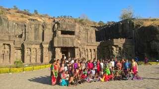 Ellora, chrámy v Indii