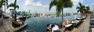 Marina Bay Sands - výhľad na Singapur