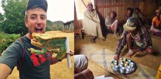 Káva na Madagaskare a chameleón Parsonov