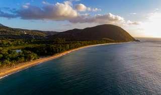 Najkrajšia pláž Guadeloupe