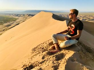Výstup na piesočné duny Gobi
