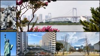 Odaiba - umelý ostrov v Tokijskom zálive