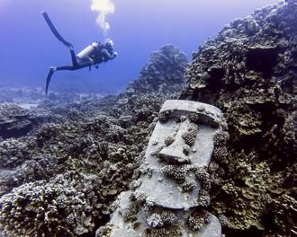 Moai pod vodou