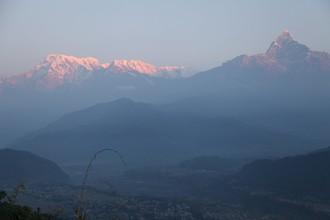 Východ slnka nad Annapurnou