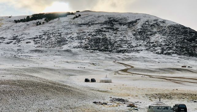 Tábor v mongolskom Altaji
