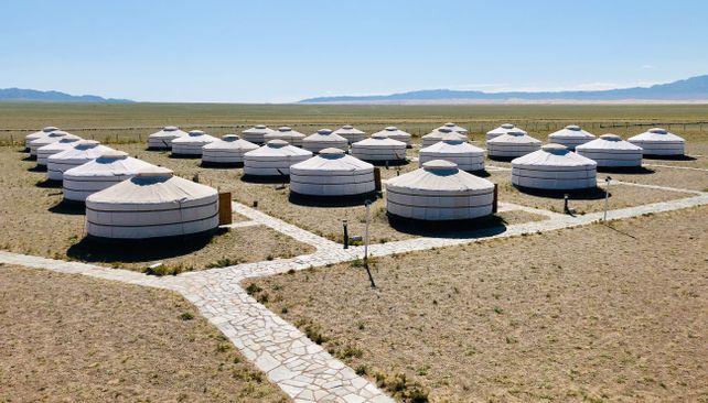 Jurty v púšti Gobi