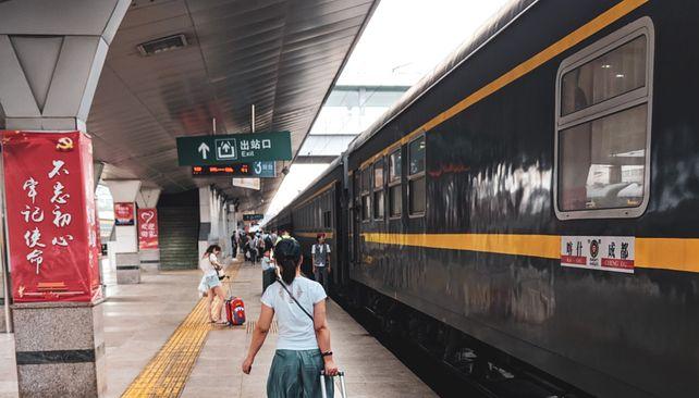 Vlakový presun Šanghaj - XiAn
