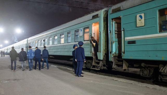 Vlakový presun Almaty - Šimkent